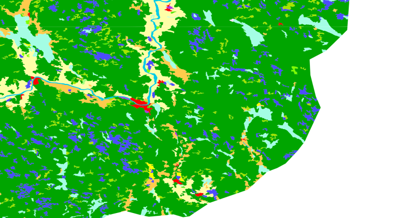 Corine Landcover 2012 (CLC) - Arealdekke illustrasjon